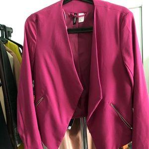 Raspberry color blazer
